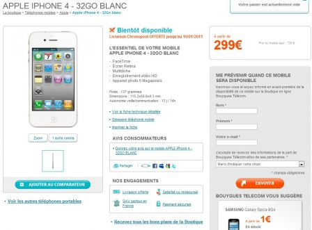 Bouygues Iphone S