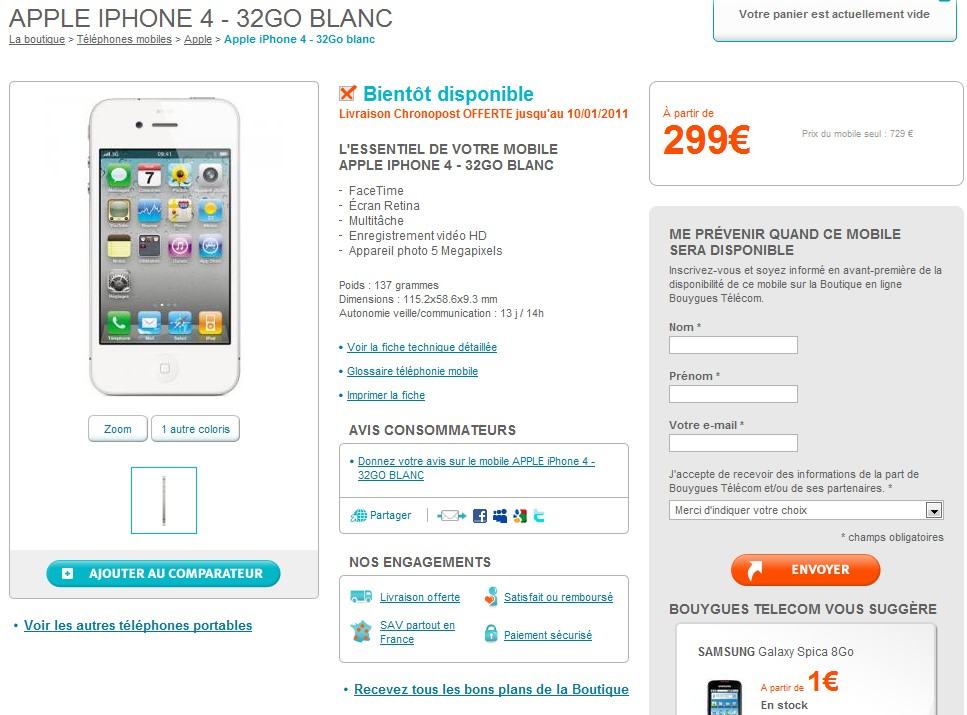 Bouygues Iphone S Rose