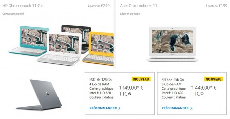 Chromebook VS Surface laptop